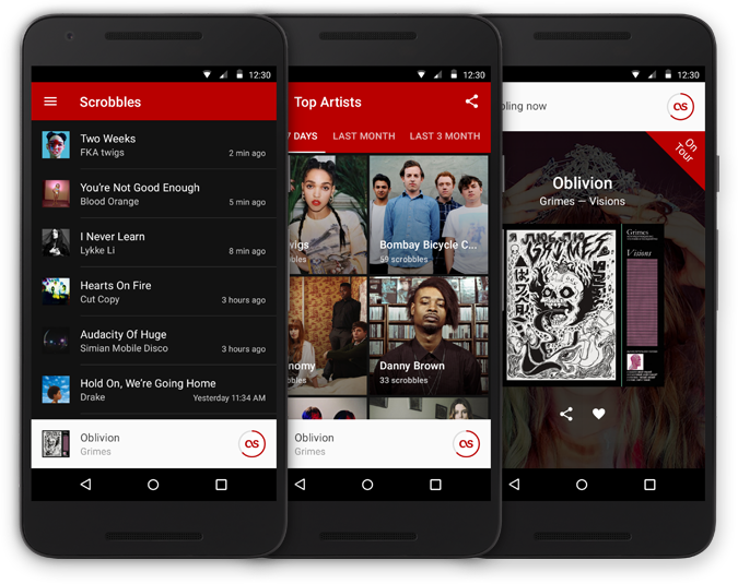 Capture d'écran de Application Last.fm pour Android